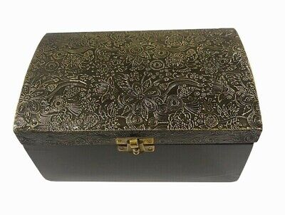 Indian Wooden Jewellery Box 2 Tier Chest 3 Drawers Storage Hand Crafted Bohemian • 17.99£