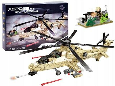 £25.99 • Buy Military Army Helicopter Air Assault 749pcs Bricks Construction BUILDING Blocks