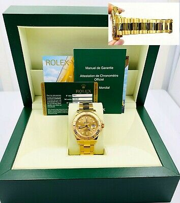 $ CDN31134.72 • Buy Rolex Yacht Master 16628 Champagne Dial 18K Yellow Gold Box Papers 40mm