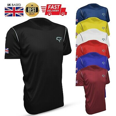 £6.99 • Buy GetFit Mens Football Shirts Jogging Running Gym Sports Breathable Fitness DryFit