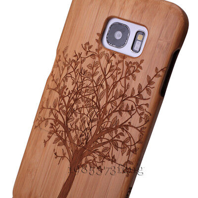 $ CDN17.08 • Buy Phone Fitted Case Genuine Tree Carved Bamboo Cover For Samsung Galaxy S7 Edge