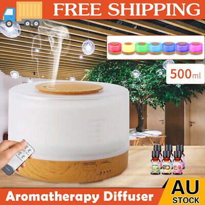 AU33.59 • Buy 500ml Essential Air Mist Oil Aroma Diffuser Ultrasonic Humidifier Aromatherapy