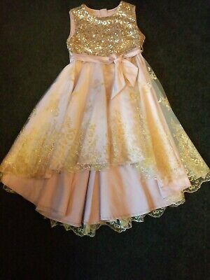 Monsoon Girls High & Low Party Dress • 3.50£