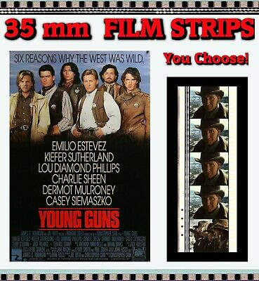 YOUNG GUNS - 35mm Film Cells (5 Cell Film Strips) - You Choose! • 2.25£