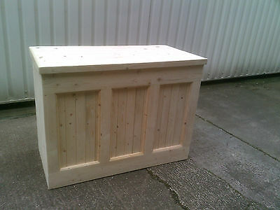 4ft Rustic Solid Wood Shop Counter Cafe Grocers Exhibition Home Bar • 295£