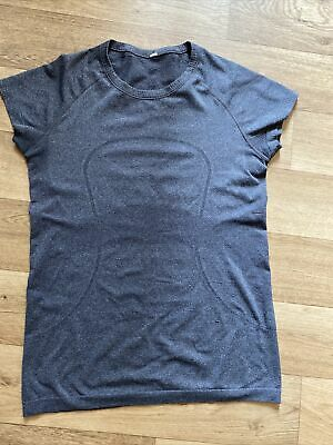 AU25 • Buy Lululemon Swiftly Tech Short Sleeved Top Heathered Grey Size CAN 10 AUS 12-14