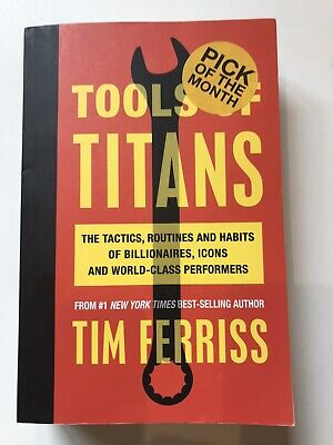 AU29.50 • Buy Tools Of Titans By Tim Ferris Softcover