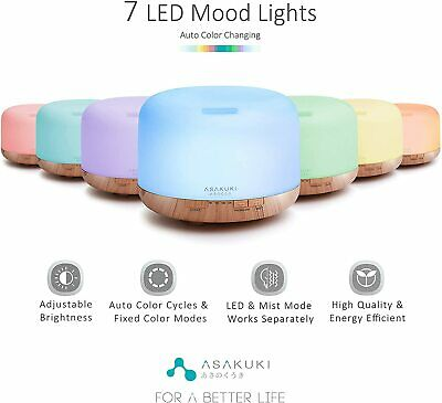 AU61.73 • Buy Essential Oil Aromatherapy Diffuser Fragrant Oil Ultrasonic Air Humidifier 500ml