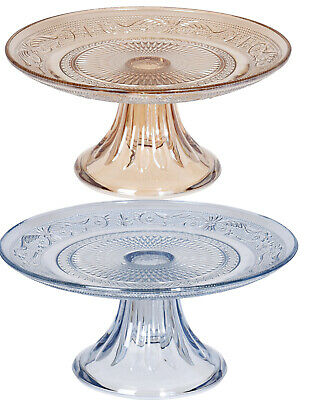 Classic Vintage Style Glass Cake Stand Retro Shabby Chic Glass 20cm Cake Plate • 8.99£