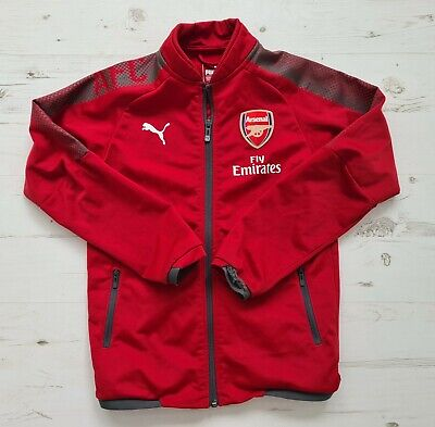 Boys Puma Red Arsenal Jacket. Age 9-10 Years. • 8£