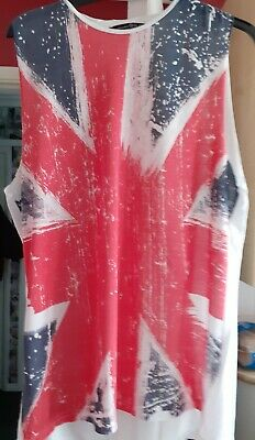 Womans Union Jack Vest Top,skinhead Girl,skingirl • 0.99£