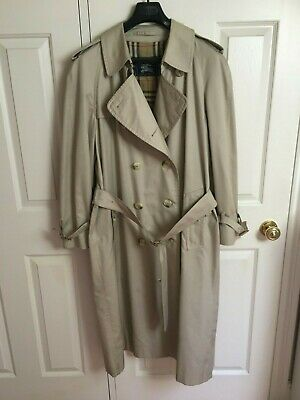 Vintage Men's BURBERRY Double Breasted  Trench Coat Mac Beige - L/XL • 41£