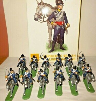 PAINTED SOLDIERS 1/72 20mm BRITISH LIGHT DRAGOONS - NAPOLEONIC WARS X 12 HAT • 14.99£