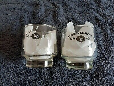 2 X Jack Daniels Tennesse Sipper Glasses With Squire Precept On Rear. RARE. • 10£