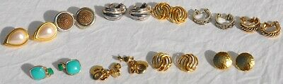 $ CDN24.73 • Buy Vintage Lot 10 Pairs Of Monet Signed Clip-On Earrings VTG Old Costume Jewelry