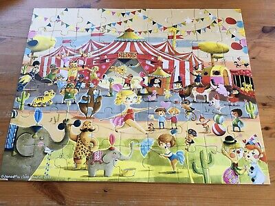 Lovely 54 Piece Janod Circus 'hat Box' Puzzle In Vgc • 4.99£