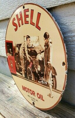 $ CDN84.21 • Buy Vintage 1939 Shell Porcelain Sign Gas & Oil