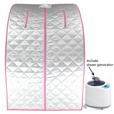 £79.99 • Buy Foldable Steam Sauna Home SPA Room Tent Box With Steamer And Chair One Person