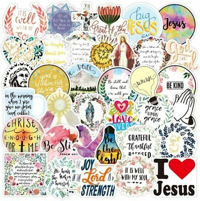 Jesus The Christian Sayings Love Stickers Laptop Luggage Bottle Vinyl Decal Pack • 4.99£