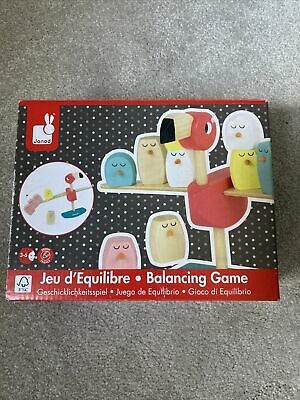 Janod Flamingo Balancing Game Wooden Toy Great Gift Zigolos Suitable 3-6 Months • 5.99£