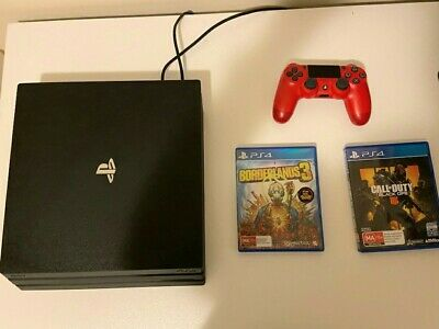 AU420 • Buy PS4 Pro Console 1TB Mint Condition With 2 Good Games