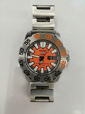 $ CDN508.31 • Buy Seiko 5 Sports Diver Orange Monster Mens Writer Watch Auto Pre-owned Working