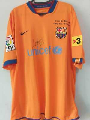 AU968.74 • Buy Jersey Barcelona #19 Messi Special Edition Gol Del Siglo - Autographed By Player