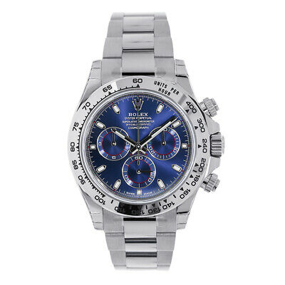 $ CDN63770.24 • Buy Rolex Cosmograph Daytona White Gold Blue Index Dial Watch 116509