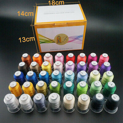 New Brothread 40 Colours Polyester Sewing & Embroidery Machine Thread -500M Each • 29.99£