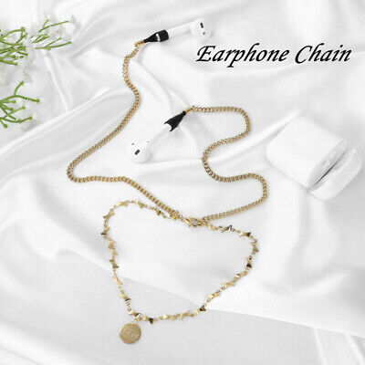$ CDN7.10 • Buy Wireless Headphone Necklace Holder Metal Anti-lost Chain Rope For AirPods Strap