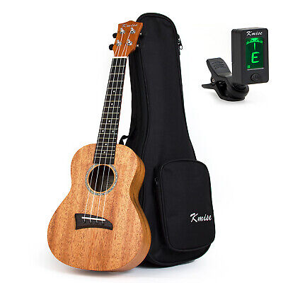 AU58.99 • Buy Solid Mahogany Top Concert Ukulele 23  Hawaii Guitar Bridge Matt W/Bag