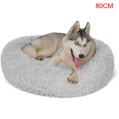 AU21.89 • Buy XL Dog Cat Pet Calming Bed Warm Soft Plush Round Nest Comfy Sleeping Kennel Cave