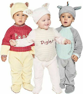 Disney Winnie The Pooh, Piglet And Eeyore Baby Fancy Dress All In One  3-24 Mths • 11.99£