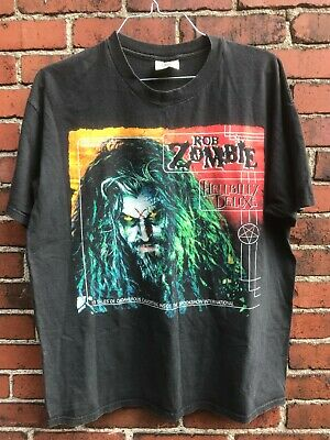 $ CDN198.20 • Buy Vintage 1998 Rob Zombie Hellbilly Deluxe RARE Tour Concert T-Shirt XL White