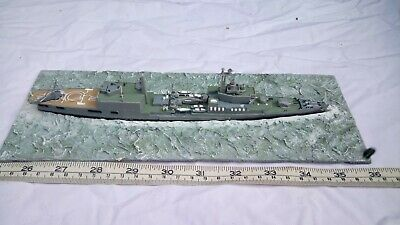 Rare 1/700 Hms Tiger Waterline Model With Diorama Spares Or Repair (no Funnels) • 19.99£