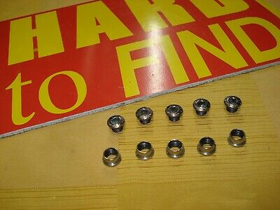 Vintage STRONGLIGHT CHROMED STEEL SINGLE CHAIN-RING BOLTS . Good-USED • 11£
