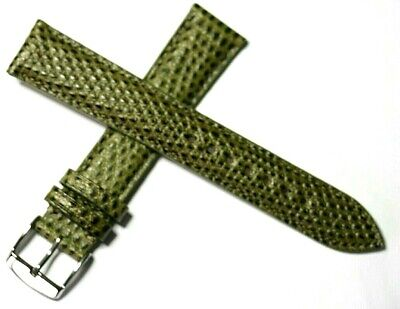 Unusual Snake Grain Calf Leather Watch Strap Hand Made In France 18mm 20mm Green • 17.95£