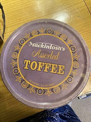 Vintage Large Sweet Tin Mackintoshs Assorted Toffee • 2.80£