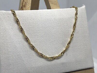 £69 • Buy 9ct 375 Yellow Gold 2mm Singapore Link Chain Necklace ALL SIZE Brand NEW