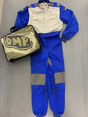 QUALITY OMP Blue GO KARTING / CAR Racing RACE Suit ONE PIECE All In One SIZE 52 • 49.99£