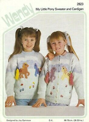 Girl's My Little Pony Cardigan & Sweater Knitting Pattern - 26 -30  Chest - Dk  • 2.20£