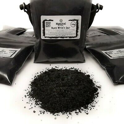 Witch's Black Salt Banishing Protection Spells Hex Pagan Wicca With Crystal Salt • 5.99£