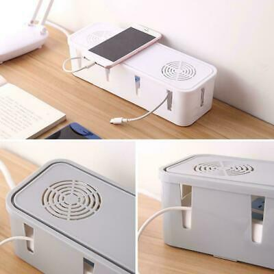 Cable Tidy Box Case Wire Cable Management Socket Safety Organizer Storage T6N8 • 3.31£