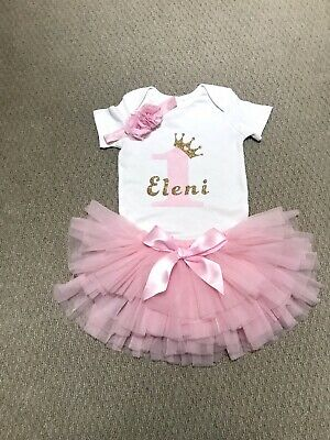 AU45 • Buy Personalised First Birthday Girl Tutu Outfit Set