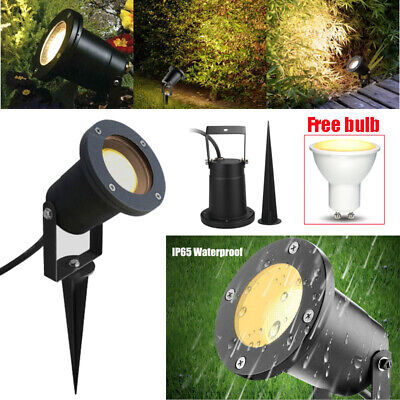 LED Garden Spike Lights Adjustable Outdoor Ground Spotlights IP65 Xmas Decor • 10.88£