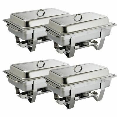£110.35 • Buy Olympia Milan Chafing Set In Silver Stainless Steel - 1 / 1 GN - Pack Of 4