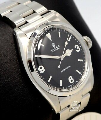 $ CDN17495.95 • Buy Rolex Oyster Precision Vintage Rare Ref. 6426 1959 Black Explorer Style 34mm