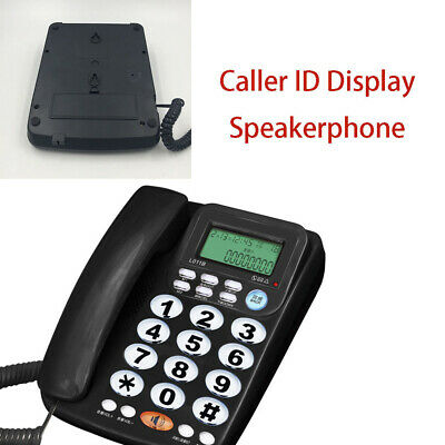 Telephone Landline Wired Caller ID With Speaker Crystal Dialpad Desk Telephone • 16.95£