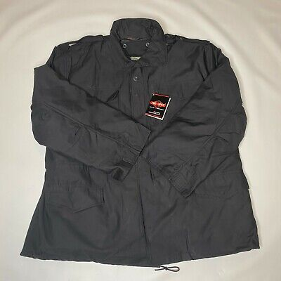 $55 • Buy Tru-Spec M-65 Black Tactical Field Jacket With Removable Liner NWT  Men's XL