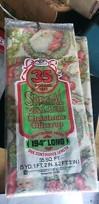 $ CDN28.93 • Buy Vintage Papercraft Christmas Wrapping Paper Santa Claus